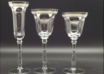 Champagne Decal Glass - Silver
