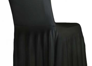 Black Spandex Lycra Skirt Cover