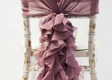 buy chiffon hood with ruffles dusky pink from chair cover depot