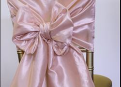 Taffeta Chair Hood - Blush Pink