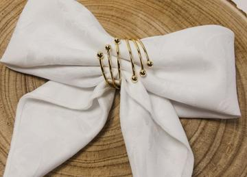 Spiral Metal Napkin Rings Gold - 6 Pack