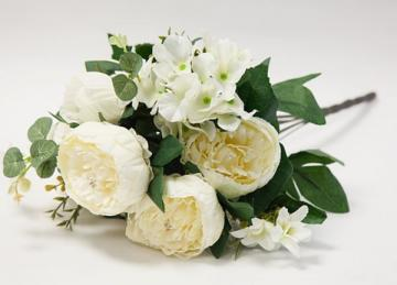 Vintage Bouquet Peonies - Ivory