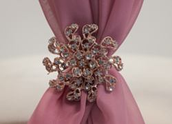 Rose Gold Diamante Brooch TX3588 - 6 Pack