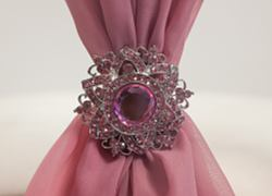 Pink Diamante Flower Brooch MX2750 - 6 Pack