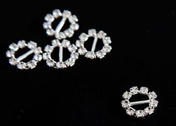 Decorative Diamante Buckles 10 Pack - Round