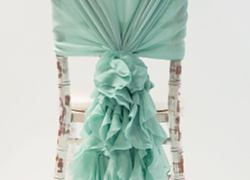 Chiffon Hood with Ruffles - Tiffany Blue