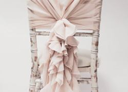 Chiffon Hood with Ruffles - Pale Pink