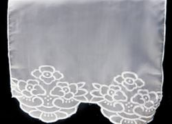 Embroidered Lux Voile Runner - White