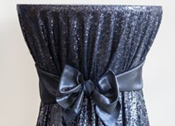 Sequin 132 Table Cloth - Navy