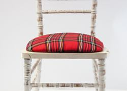 Seat Pad Covers - Royal Stewart Tartan
