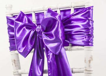 Satin Sash - Purple