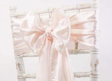 Satin Sash - Peach