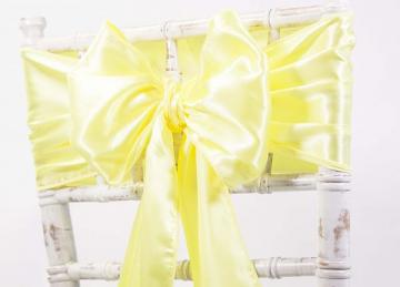 Satin Sash - Neon Yellow