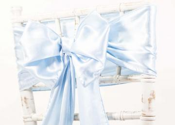 Satin Sash - Light Blue