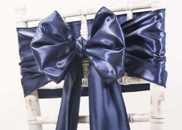 Satin Sash - Navy
