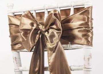 Satin Sash - Brown