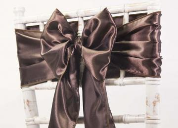 Satin Sash - Chocolate