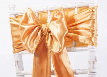 Satin Sash - Orange