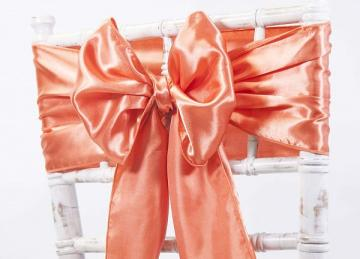 Satin Sash - Burnt Orange