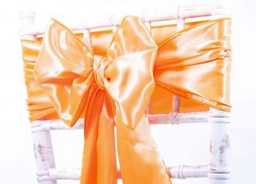 Satin Sash - Neon Orange