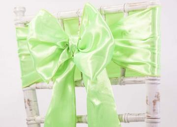 Satin Sash - Lime