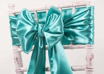 Satin Sash  - Jade Green