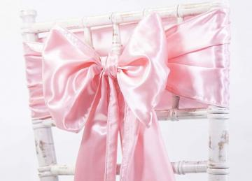 Satin Sash - Candy Pink
