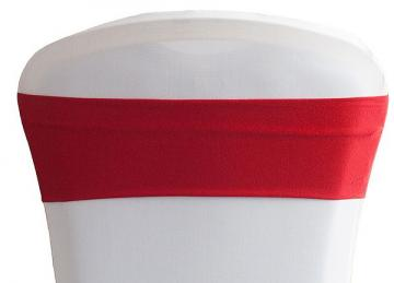 Lycra Chair Bands - Red