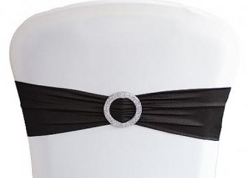 Lycra Chair Bands With Buckle - Black