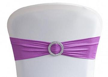 Lycra Chair Bands With Buckle - Lilac