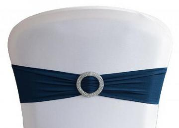 Lycra Chair Bands With Buckle - Navy