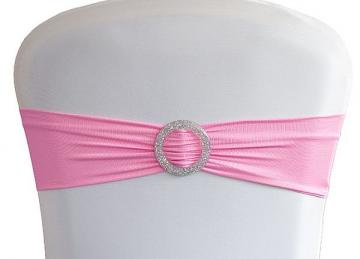 Lycra Chair Bands With Buckle - Pink