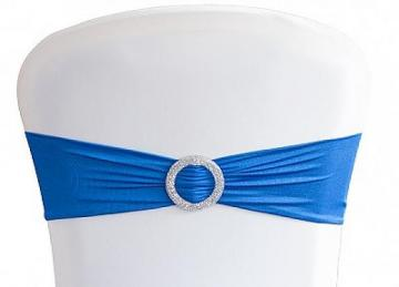 Lycra Chair Bands With Buckle - Royal Blue