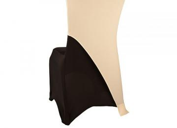 Spandex Lycra Chair Cap Angled - Ivory