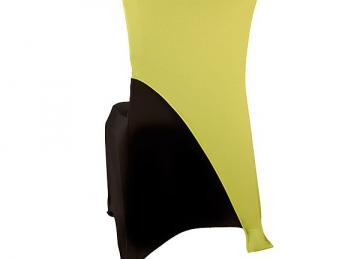 Spandex Lycra Chair Cap Angled - Lime