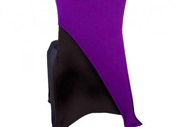 Spandex Lycra Chair Cap Angled - Purple