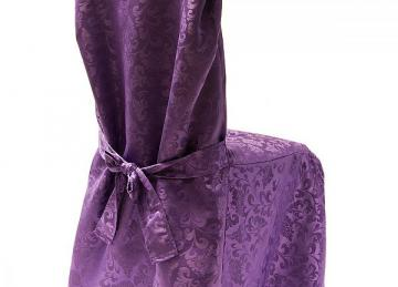 Dining Chaircovers with Ties RJ03 - Purple
