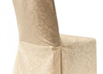 Damask Dining Chair Covers RJ04 - Ivory