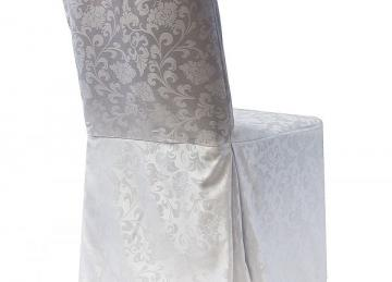 Damask Dining Chair Covers RJ04 - White
