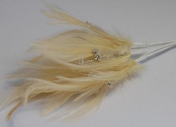 Diamante Feathers - Champagne