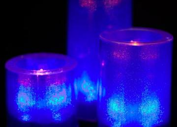 Large LED Candles - Blue