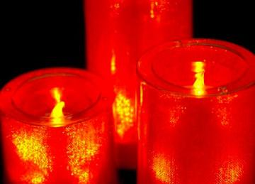 Large LED Candles - Orange