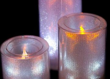 Large LED Candles - White