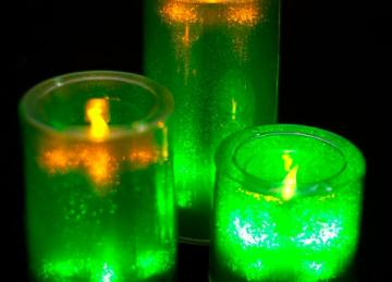 Medium LED Candles - Green