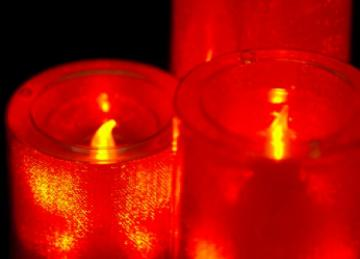 Medium LED Candles - Red