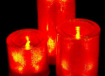 Medium LED Candles - Orange