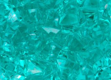 Large Acrylic Coloured Stones 300g  - Aqua