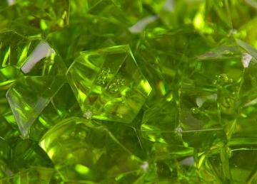 Large Acrylic Coloured Stones 300g - Green