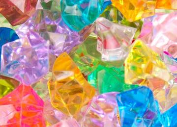 Large Acrylic Coloured Stones 300g - Multicoloured