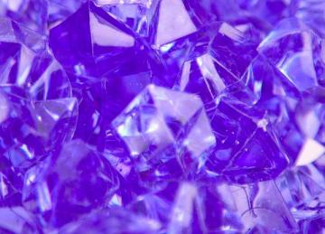 Large Acrylic Coloured Stones 300g - Purple